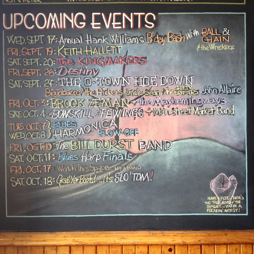 Live Music Listings at Irene's Pub